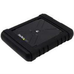 GABINETE USB 3.0 ROBUSTO CON UASP PARA DISCO DURO O SSD SATA III DE 2.5 PULGADAS - CARCASA SIN HERRAMIENTAS IP54 TIPO MILITAR -