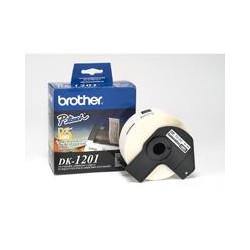 ETIQUETA PRECORTADA BROTHER DK1201 BLANCO 400 ETIQUETAS 29 X 90.3 MM COMPATIBLE CON QL´S