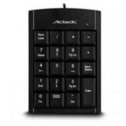 TECLADO  NUMERICO ACTECK ALAMBRICO  KN-350 USB NEGRO