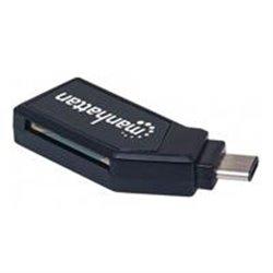 LECTOR TARJETAS USB-C 2.0, 24 EN 1 MANHATTAN